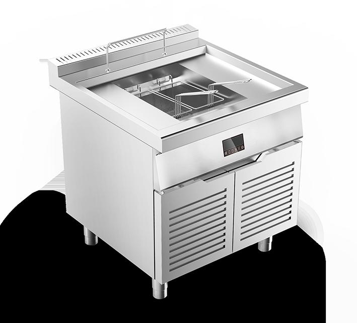 电磁油炸炉连下柜—D800